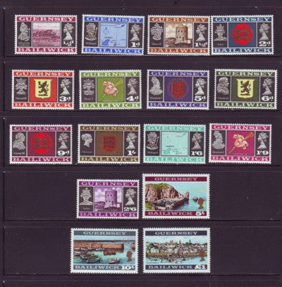 Guernsey Scott  8-23 1969 1st long  stamp set mint NH
