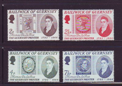 Guernsey Scott 56-9 1971 De La Rue stamp set mint NH