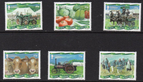 Guernsey Scott  1220-25 2013 West Show Anniversary stamp set mint NH