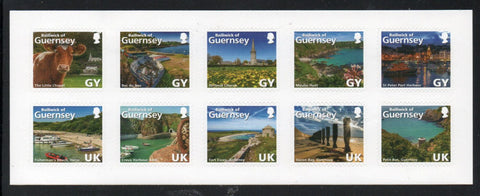 Guernsey Scott  1267 2014 Views self adhesive stamps booklet pane mint NH