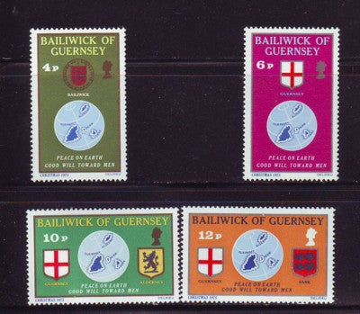 Guernsey Scott  127-30 1975  Christmas stamp set mint NH