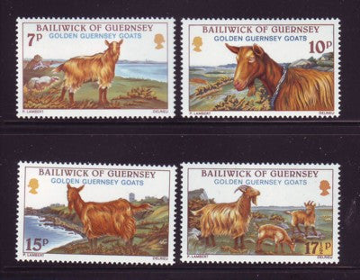 Guernsey Scott 209-12 2980 Golden Goats stamp set mint NH