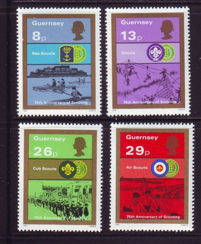 Guernsey Scott  246-9 1982 Scouting Year stamp set mint NH