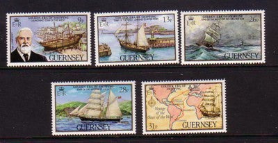 Guernsey Scott  269-73 1983 Ship Star of the West stamp set mint NH