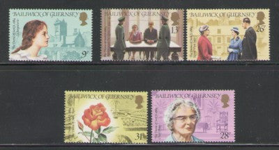 Guernsey Scott  274-8 1984 Dame of Sark stamp set mint NH