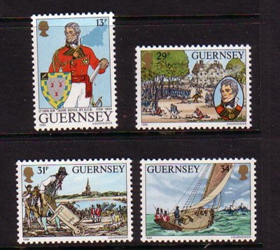Guernsey Scott  303-6 1984  Lt-Gen John Doyle stamp set mint NH