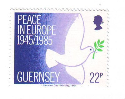 Guernsey Scott  313 1985 Peace End of WW II  stamp mint NH