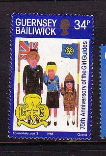 Guernsey Scott  318 1985 75th Anniversary Girl Guides stamp mint NH