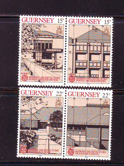 Guernsey Scott  348-51 1987 Europa stamp set mint NH
