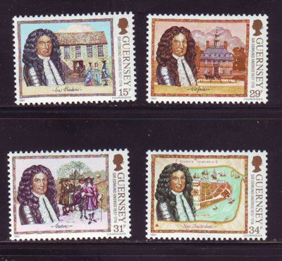 Guernsey Scott  352-5 1987 Andros stamp set mint NH