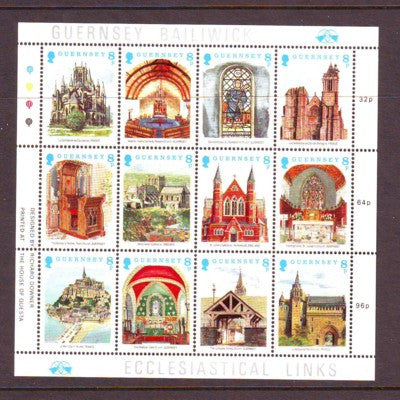 Guernsey Scott  400 1988 Christmas stamp sheet mint NH
