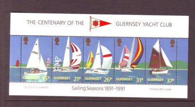Guernsey Scott  463a 1991 Yacht Club stamp sheet mint NH