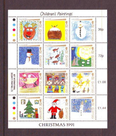 Guernsey Scott  464 1991 Chritmas stamp sheet mint NH