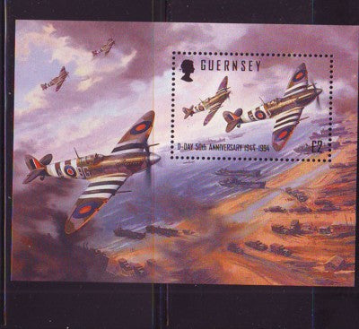 Guernsey Scott  530 1994 D Day stamp souvenir sheet mint NH
