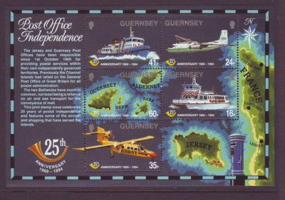 Guernsey Scott  540a 1994 Postal Independence stamp souvenir sheet mint NH