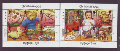 Guernsey Scott  541-2 1994 Christmas  stamp souvenir sheets mint NH