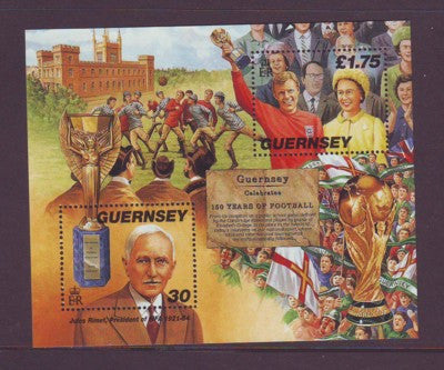 Guernsey Scott  635 1998 Soccer stamp sheet mint NH