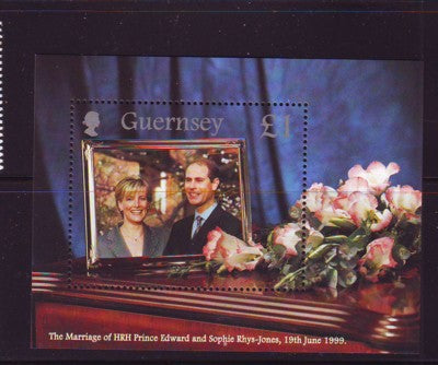 Guernsey Scott  690 1999 Royal Wedding Pr Edward stamp souvenir sheet mint NH