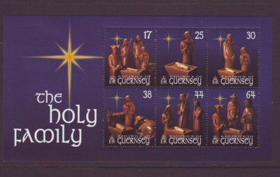 Guernsey Scott  702a 1999 Christmas stamp sheet mint NH