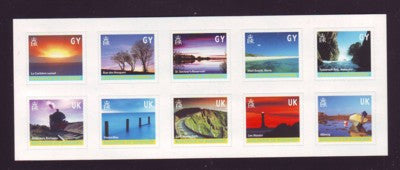 Guernsey Scott  742 2001 Island Views stamp sheet mint NH