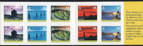 Guernsey Scott  742l 2001 Views stamp booklet mint NH