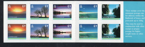 Guernsey Scott  742k 2001 Views stamp booklet mint NH