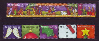 Guernsey Scott  849-54 2004 Christmas stamp set mint NH