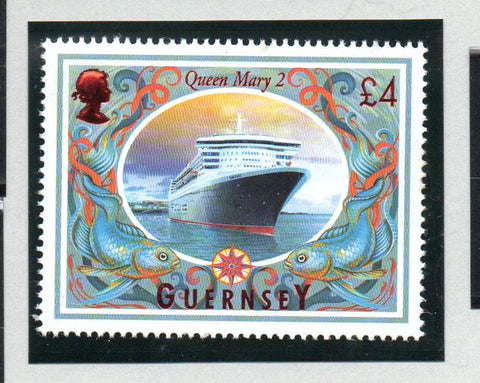 Guernsey Scott  867 2005 £4 Queen Mary Ocean Liner stamp mint NH