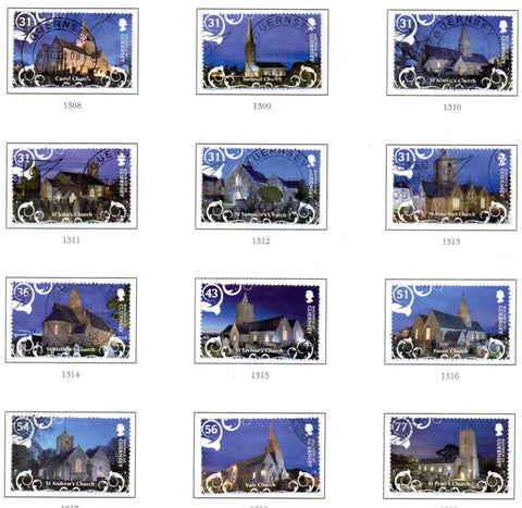 Guernsey Scott  1063-74 2009 Christmas stamp set used