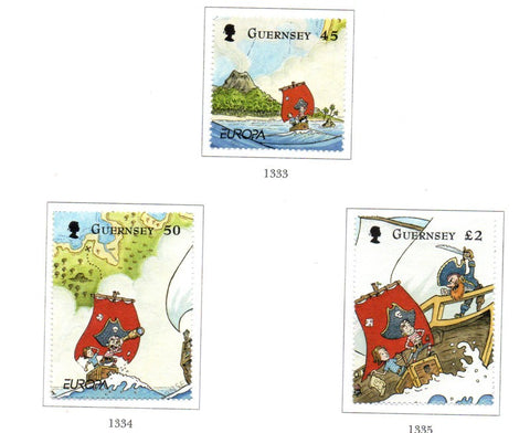 Guernsey Scott  1083-85 2010 Europa Children's Books stamp set used