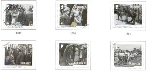 Guernsey Scott  1099-1104 2010 Evacuation Anniversary stamp set used