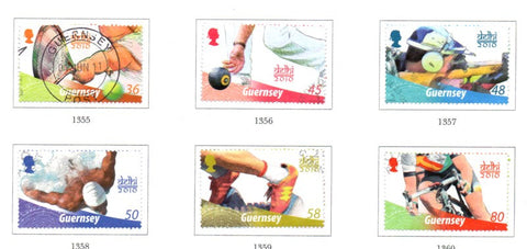 Guernsey Scott  1105-10 2010 Commonwealth Games stamp set used