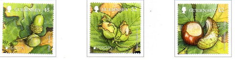 Guernsey Scott  1125-27 2011 Europa  stamp set used