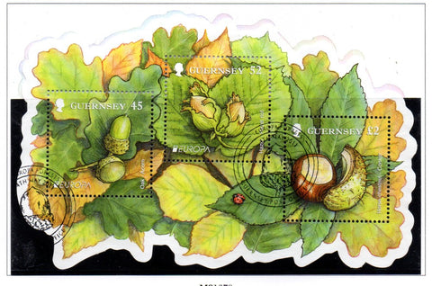 Copy of Guernsey Scott  1127a 2011 Europa, Forests,  stamp sheet used