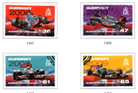 Guernsey Scott  1142-45 2011 Formula 1 Racing Champions stamp set used