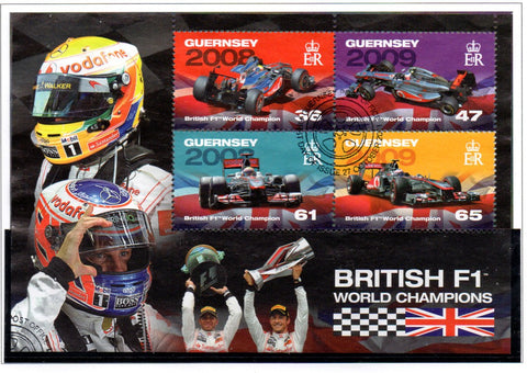 Guernsey Scott  1145a 2011 Formula 1 Racing Champions stamp sheet used
