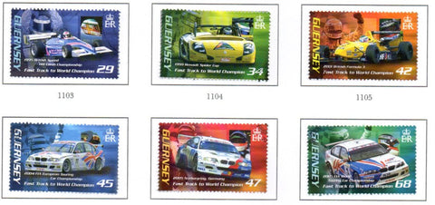 Guernsey Scott  905-10 2006 Andy Priaulx Race Car Driver stamp set used