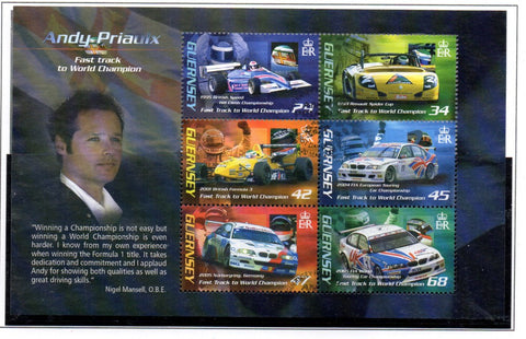 Guernsey Scott  910a 2006 Andy Priaulx Race Car Driver stamp sheet used