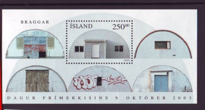 Iceland Scott  1000 2003 Quonset Hut Stamp Day stamp sheet mint NH