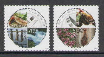 Iceland Scott  1050-1 2005 Europa stamp set mint NH