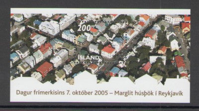 Iceland Scott  1058 2005 Rooftops Stamp Day stamp sheet mint NH