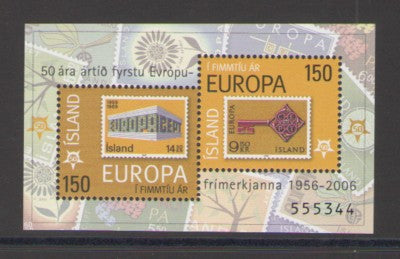 Iceland Scott  1066 2006 50th Anniversary Europa stamp sheet mint NH