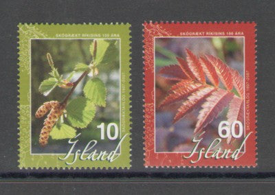 Iceland Scott  1101-2 2007 Forestry stamp set mint NH