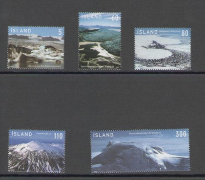 Iceland Scott  1105-9 2007 Glaciers stamp set mint NH
