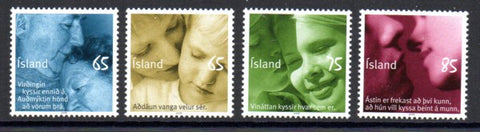 Iceland Scott  1128-31 2008 Kisses stamp set mint NH