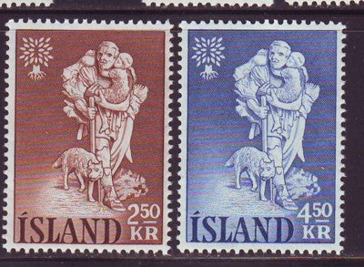 Iceland Scott  325-6 1960 World Refugee Year stamp set mint NH