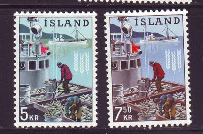 Iceland Scott  354-5 1963 Freedom From Hunger stamp set mint NH