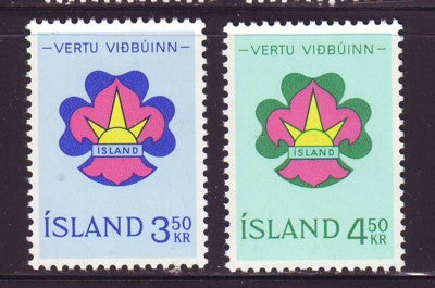Iceland Scott  360-1 1964 Boy Scouts stamp set mint NH