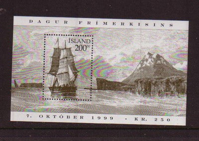 Iceland Scott 894 1999 Stamp Day ‭ ‭View of Skagafhordur souvenir sheet mint NH