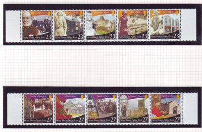 Isle of Man Scott  1006-7 2003 Noble Trust stamp set mint NH